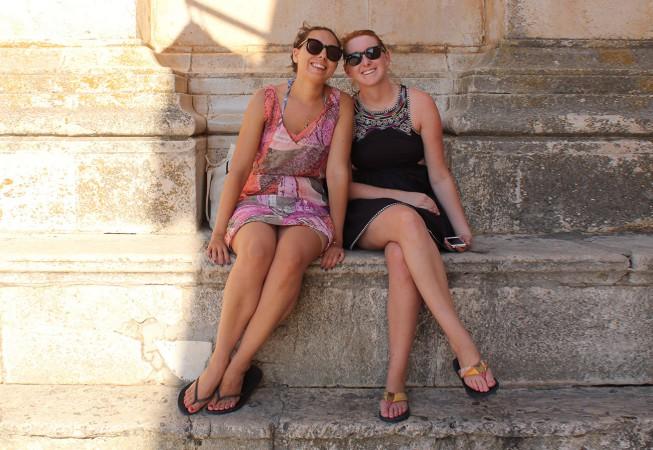 Kroatien: Hvar Town, Nathalie & Diane